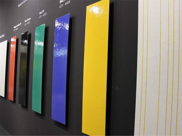 Цветовая палитра плитки позаимствована из трудов Корбюзье.
