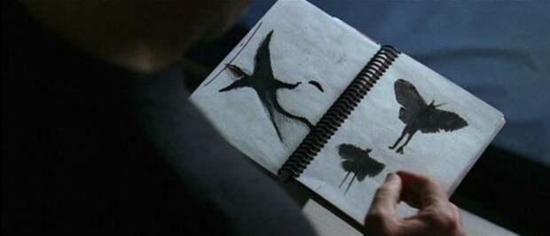 блокнот с рисунком мотыльков