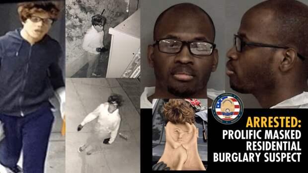 В США темнокожий мужчина ограбил 30 квартир в маске белого тинейджера