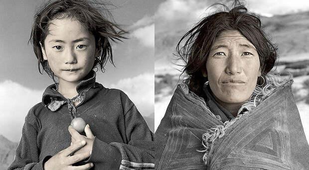 Жители Тибета в объективе Фила Борджеса