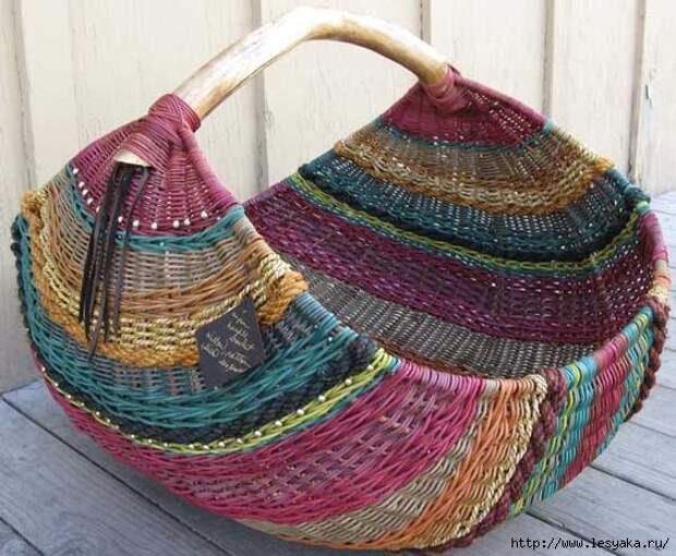 Изумительные плетеные корзиночки своими руками!