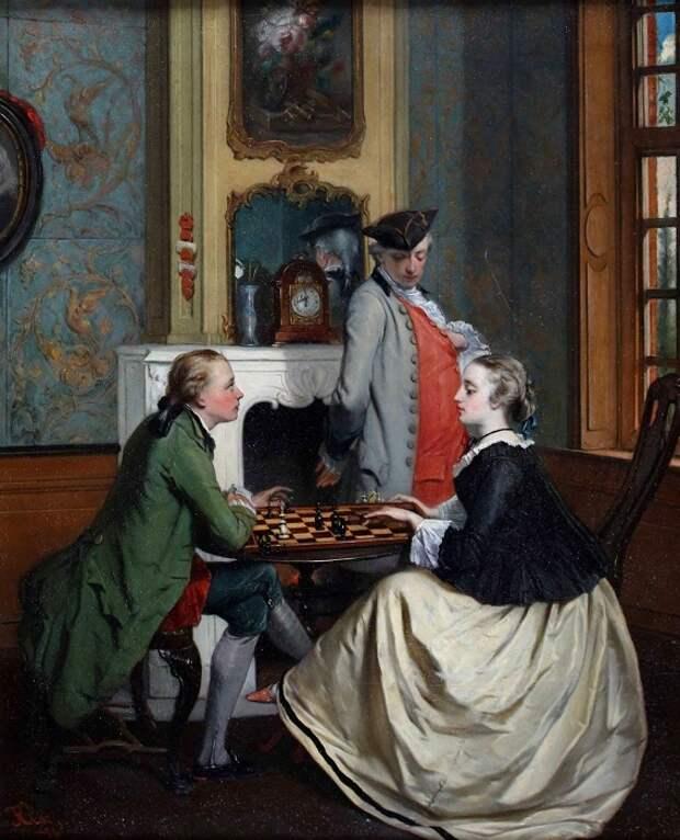 Ян Франц Флорис Клаэс, «Игра в шахматы», XIX век.