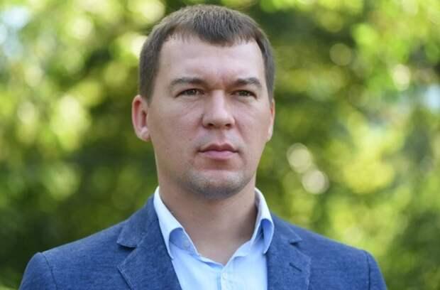 Дегтярев вышел к участникам протестных акций