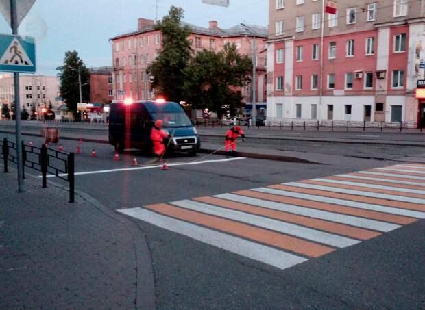 Нанесение дорожной разметки в Ижевске завершат до конца июня
