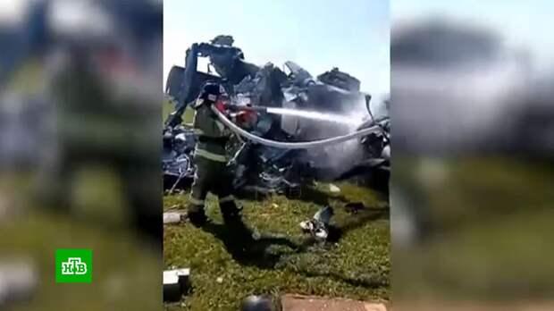 Крушение самолета с парашютистами в Кузбассе: видео с места ЧП