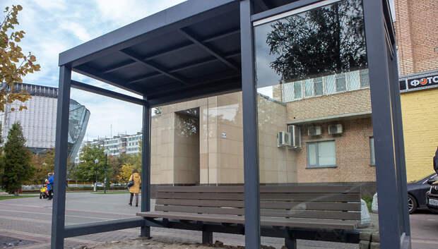 Обновление остановочных павильонов завершат в Подмосковье до конца ноября