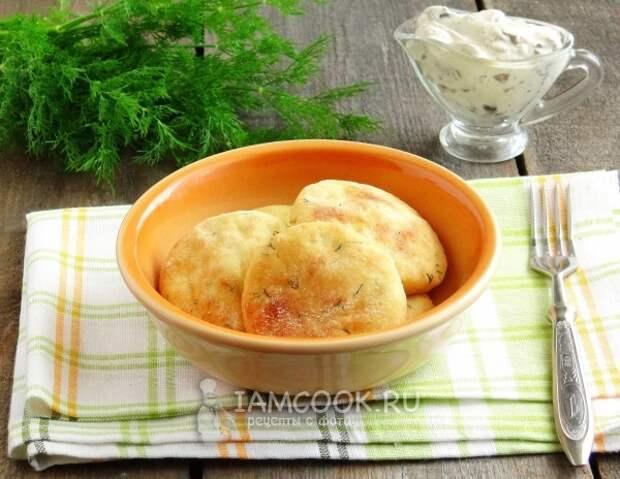 Рецепт картофельных лепешек с укропом