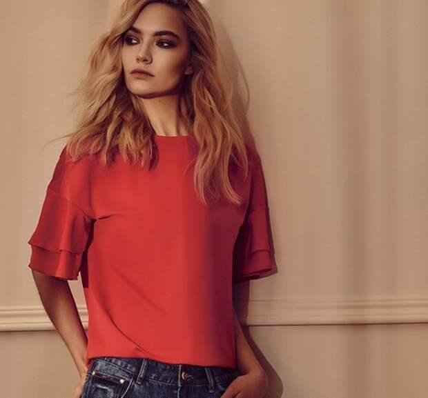 Как модно носить красные рубашки и блузы летом и осенью 2018: 20 трендовых идей