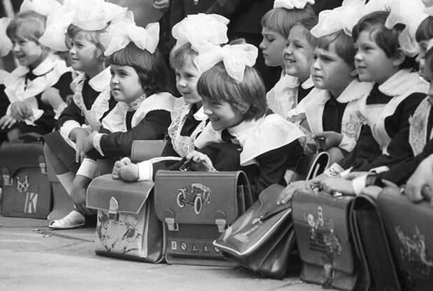 Школьники 1970-х гг.