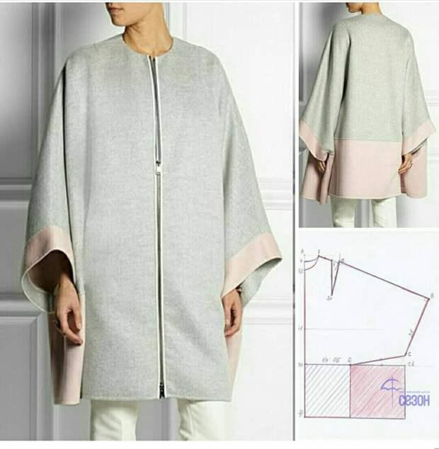 Выкройка пальто Fendi