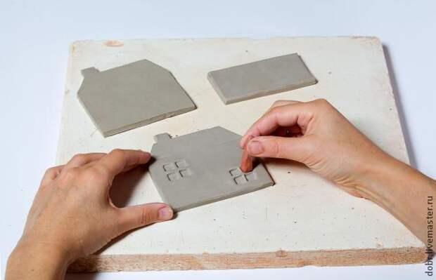 Создание керамической салфетницы Старый домик