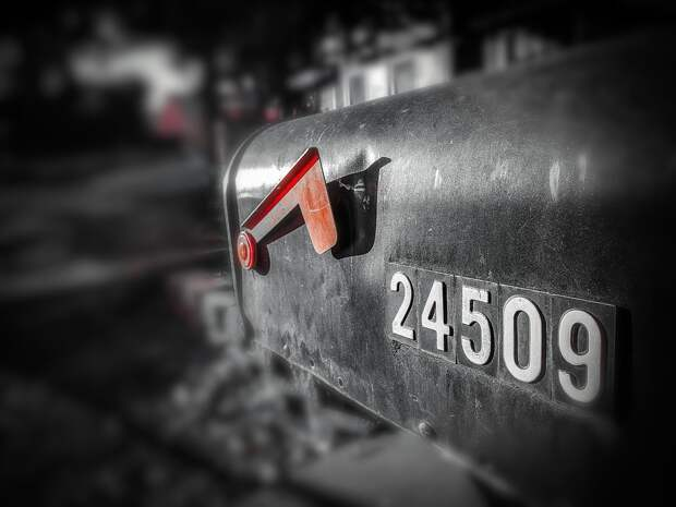 Почтовый Ящик, Почте, Улица, Адрес, Черный, Уайт