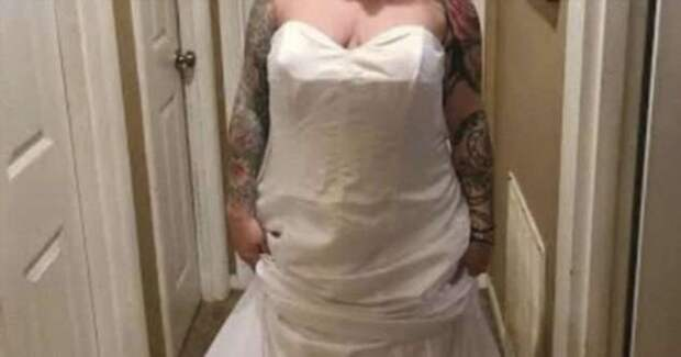 Невнимательная невеста и платье наизнанку