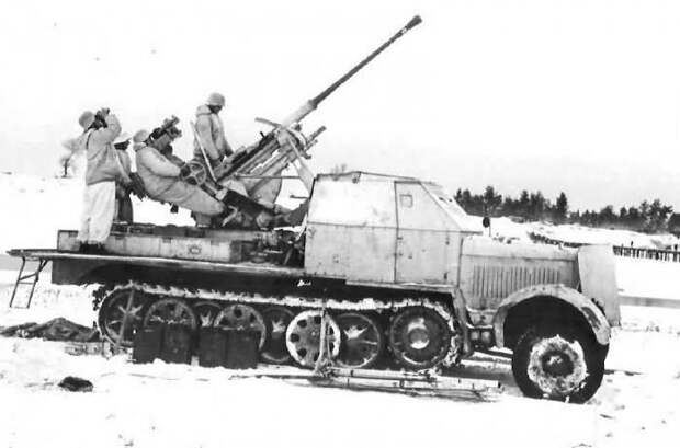 Использование 30 и 37-мм трофейных немецких зенитных автоматов
