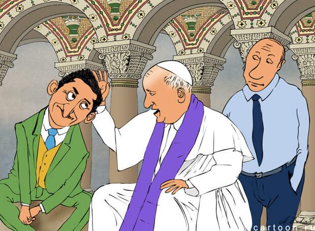 «Я б засосал стакан — и в Ватикан!» Зеленский в поисках места встречи с Путиным