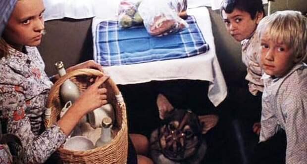 Полина (Ира Иванова), Степка (Миша Бузылев-Крэцо) и Павлик (Петя Крылов). Кадр из фильма