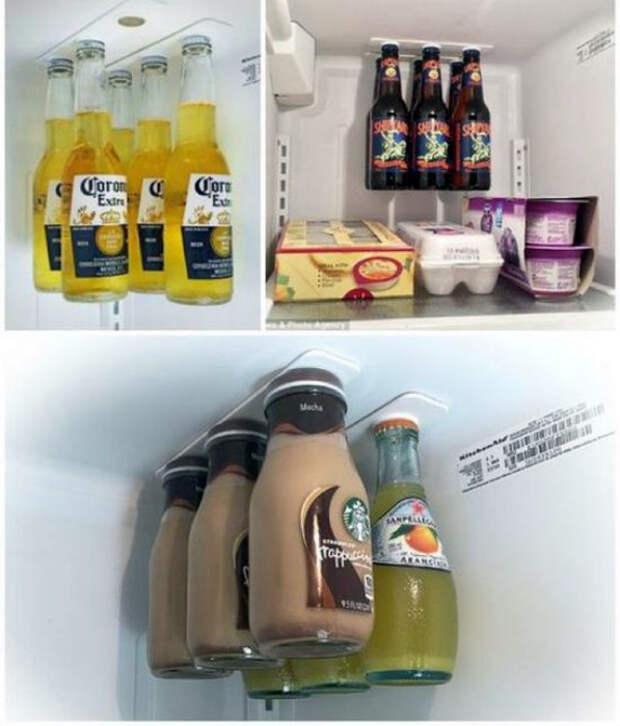 Магнитный держатель в холодильнике.