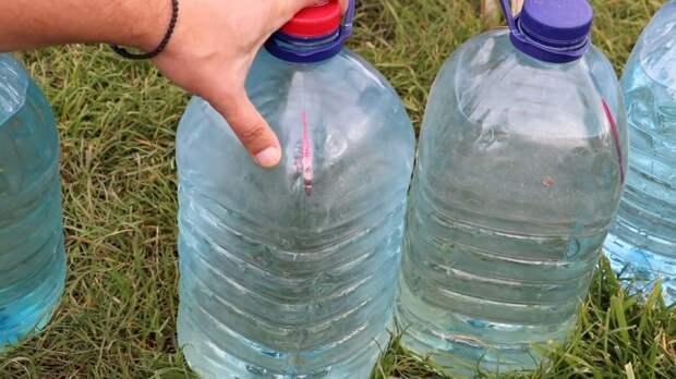 Простой капельный полив бутылками