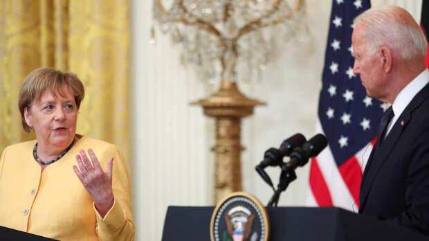 Канцлер Германии Ангела Меркель и президент США Джо Байден во время совместной пресс-конференции