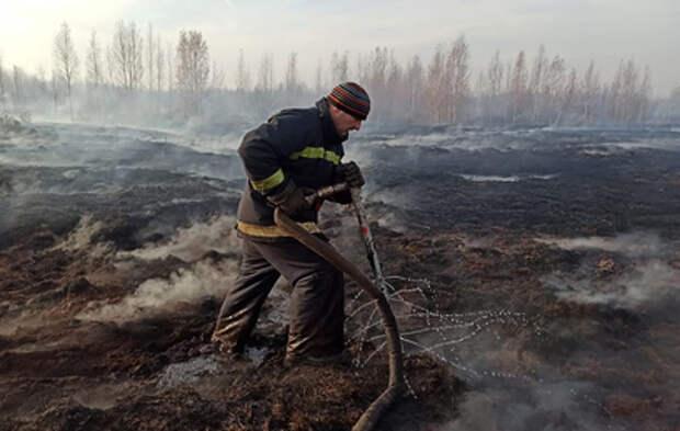 Торфяники в Свердловской области тушат круглосуточно