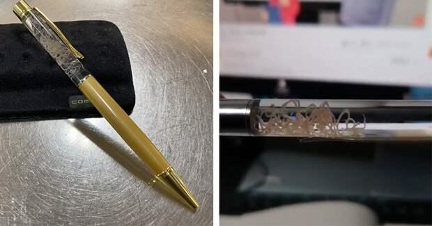 Японцы создали шариковую ручку, внутри которой плавает живой паразит
