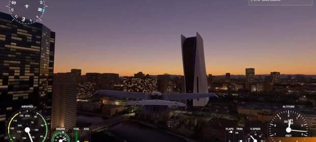 Моддер сдержал слово и установил в Microsoft Flight Simulator огромную PS5