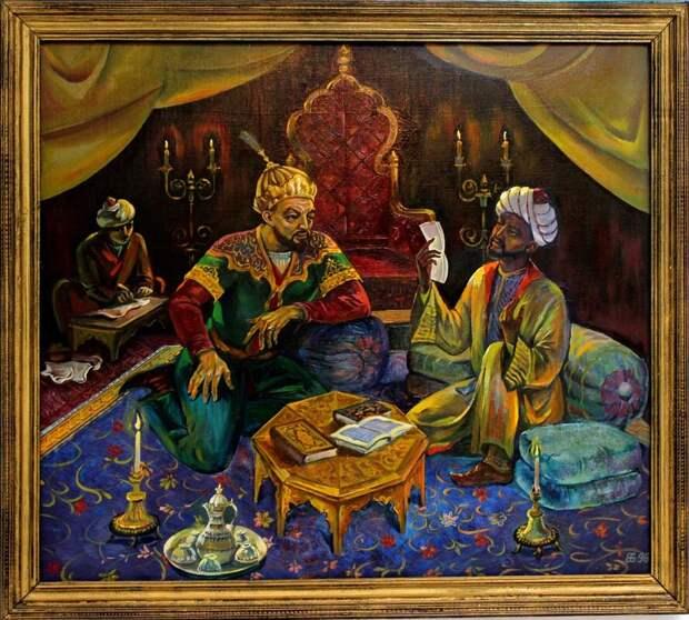 Ибн Халдун и Великий Тимур за долгими беседами… (Иллюстрация из открытых источников)