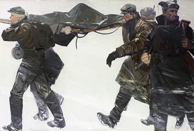 Картина Гунара Митревицса «Латгальские партизаны», 1958 год