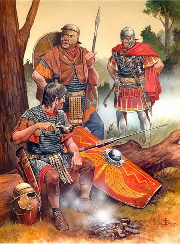 Римские легионеры на привале