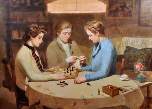 Франческо Галанте, «Игра в шахматы», XX век.