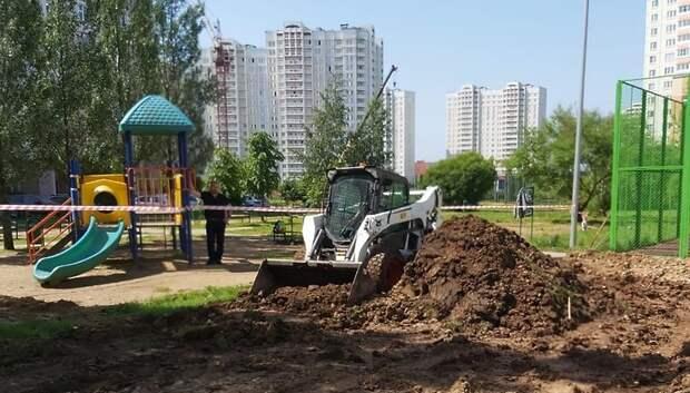 Подготовку к установке детской площадки начали на улице Академика Доллежаля