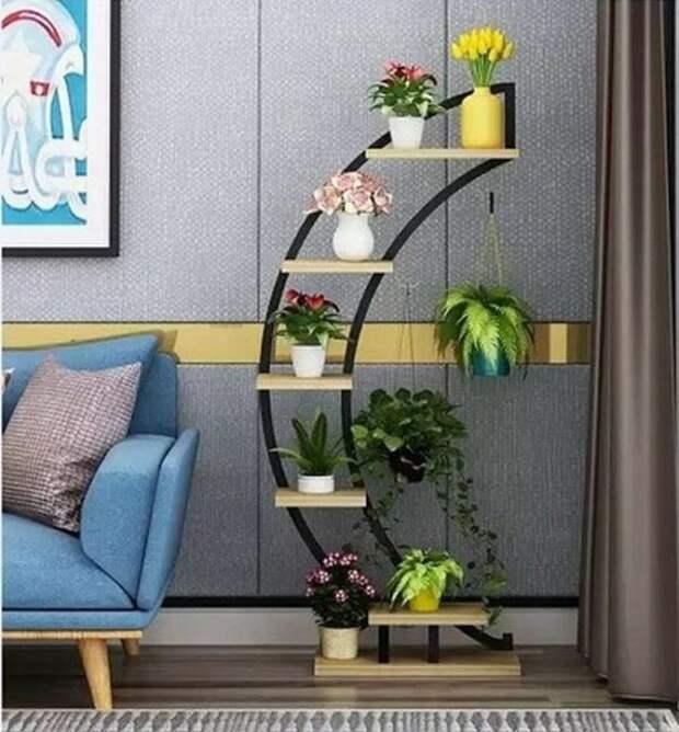 Красивые идеи полок для цветов