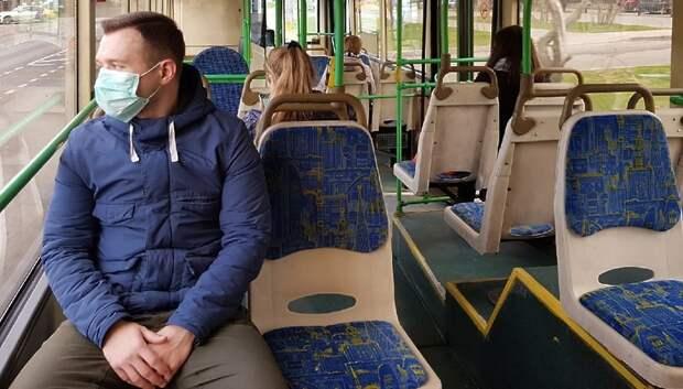 Практически все пассажиры общественного транспорта Подмосковья были в масках в среду