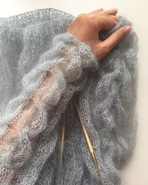 Вязание паутинка (трафик)