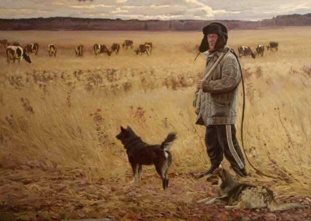 Пастухи, как и древние воины, тоже очень жалуют кнут. /Фото: poembook.ru