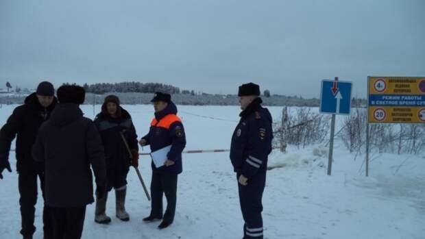Шесть ледовых переправ для автомобильного транспорта открыли в Коми
