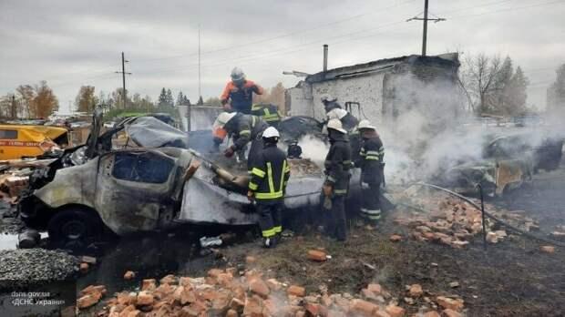 Мощный взрыв на Харьковщине унес две жизни, девять человек ранены