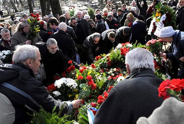 Прощание с Василием Кононовым. Рига, 5 апреля 2011 года