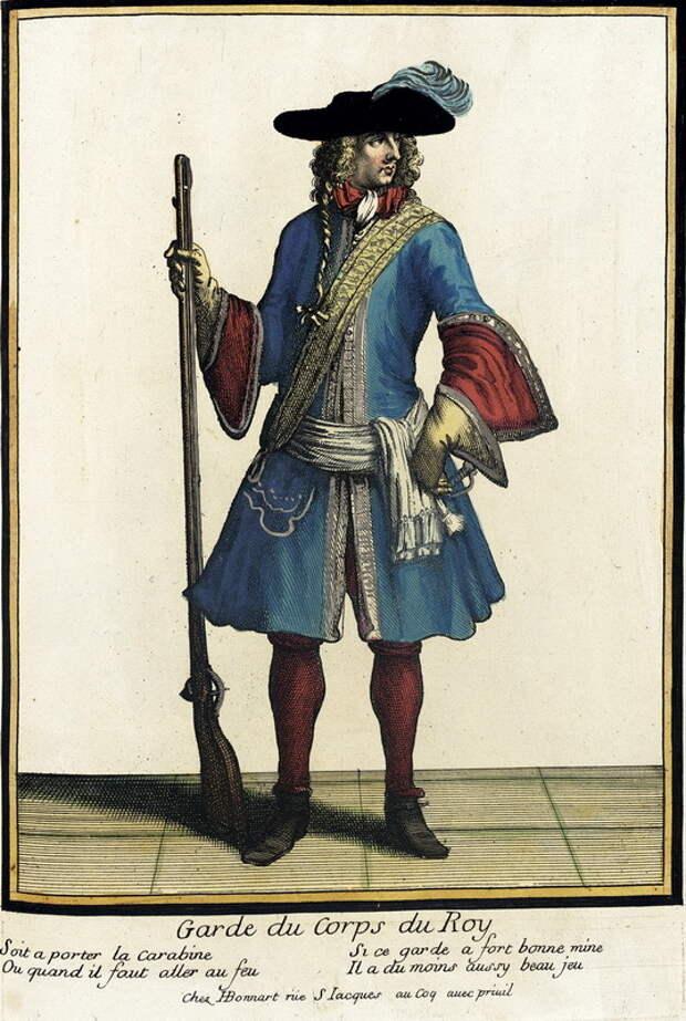 Лейб-гвардеец Людовика XIV, 1685 год. commons.wikimedia.org - Разящие лучи Короля-Солнце | Warspot.ru
