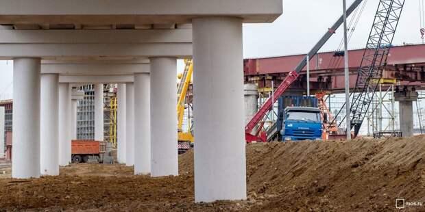 На участке СВХ начали бетонировать пролетмоста через Лихоборку