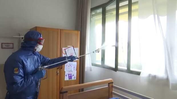 Российские эпидемиологи обработали итальянский пансионат «Мартино Занки» в пригороде Бергамо