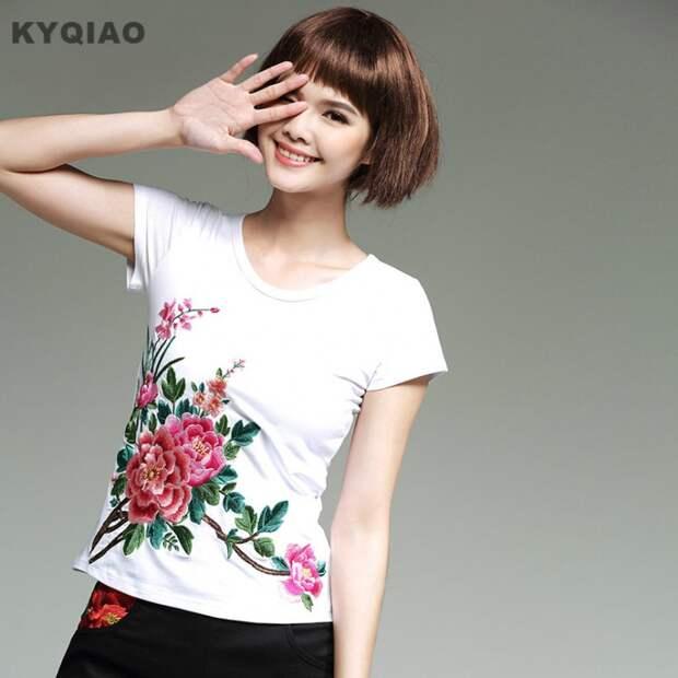 футболки с цветами