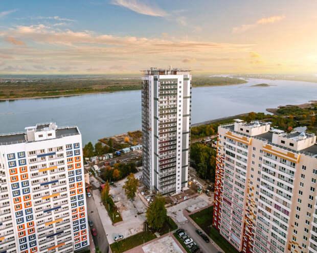 С высоты положения: в ТДСК завершили строительство первого 25-этажного дома рядом с Радонежским