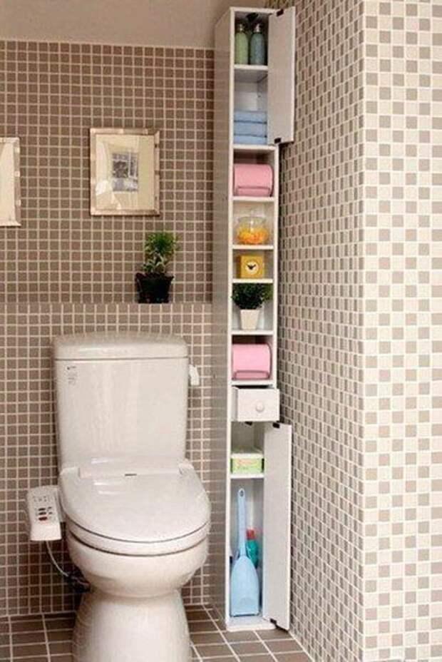Хранение в туалете - идеи