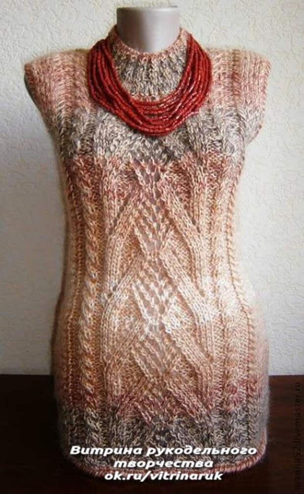 Эффектные модели жилетов для вязания спицами. Возможно кто-то воспользуется подборкой.