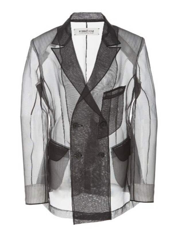 прозрачный жакет пиджак