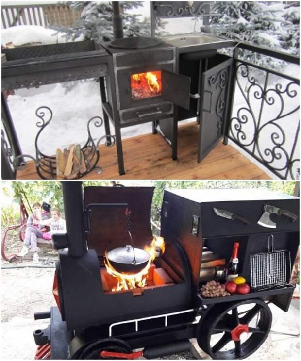 Такая уличная печь украсит любой загородный участок. | Фото: stroy-podskazka.ru/ m-strana.ru.