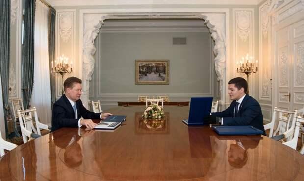 Состоялась рабочая встреча губернатора ЯНАО Дмитрия Артюхова и главы ПАО «Газпром» Алексея Миллера