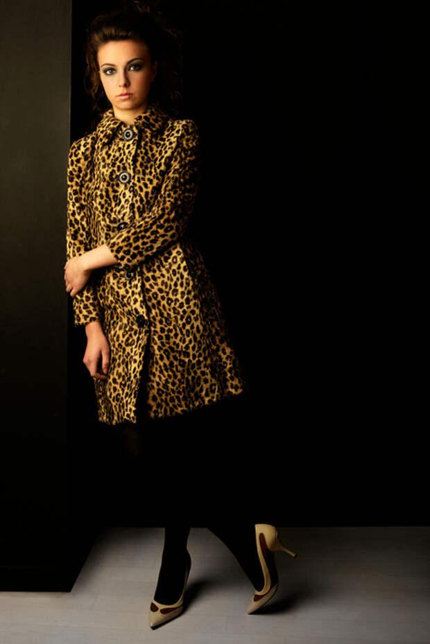 Женское леопардовое пальто