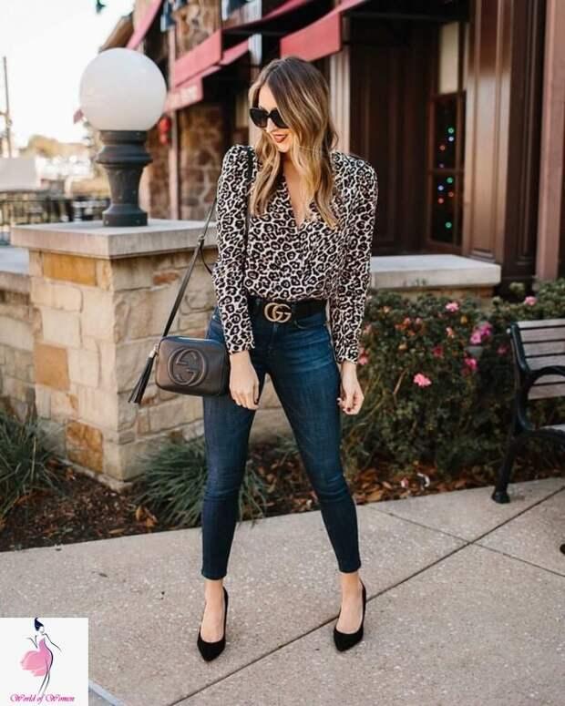 Леопардовый принт: правила комбинации вещей для стильного образа